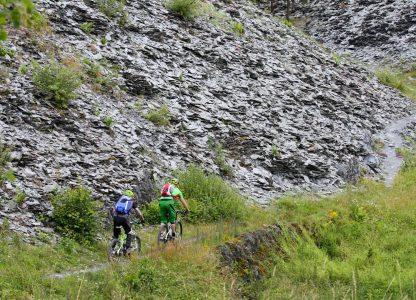 Trail in den Schieferbergen