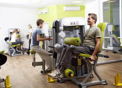 Fitnessgeräte der Klinik