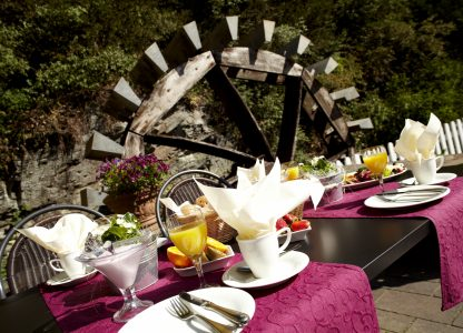 Dinner am Mühlenrad Hotel Alte Mühle