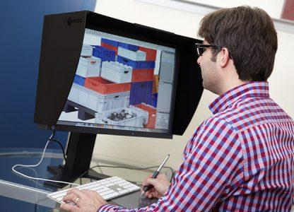 Mitarbeiter am Computer