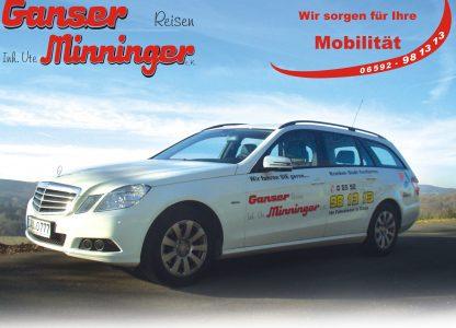 Visitenkarte Taxi Ganser Daun