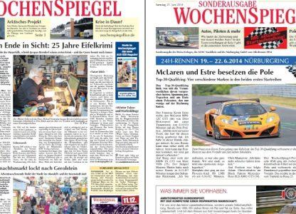 Titelblätter einer Zeitung