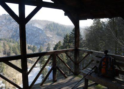 Ausblick aus Wanderhütte