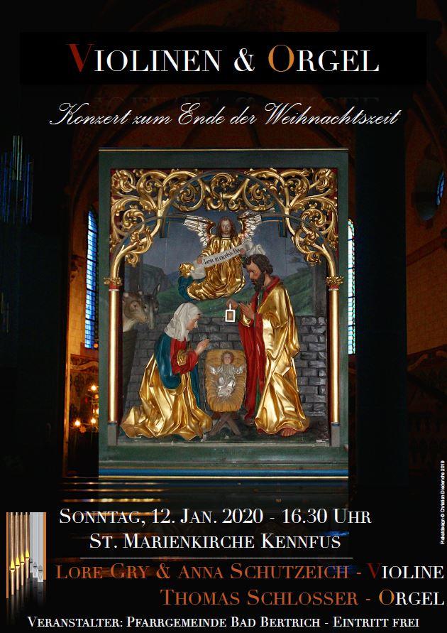 Konzert zum Ende der Weihnachtszeit in Kennfus.