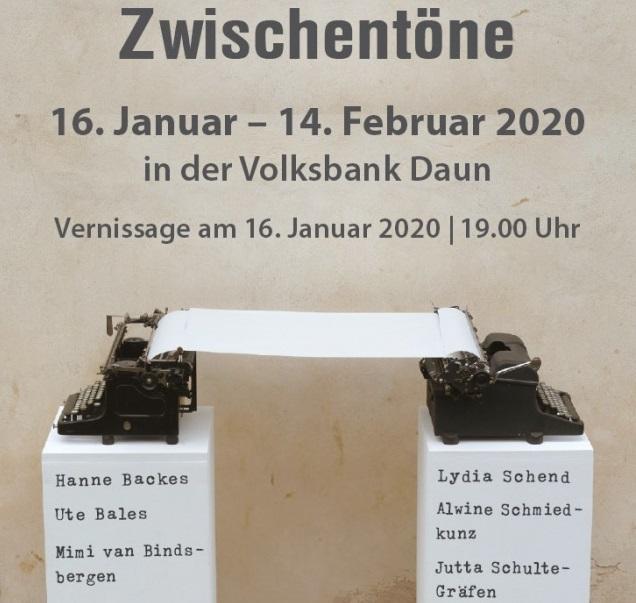 Programm der Ausstellung Zwischentöne.
