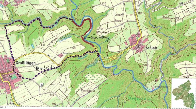 Karte vom Lieserpfad